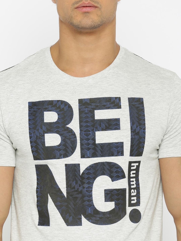 Shirts human design - Buy Being Human Clothing Men Grey Melange Printed T Shirt Tshirts For Men Myntra