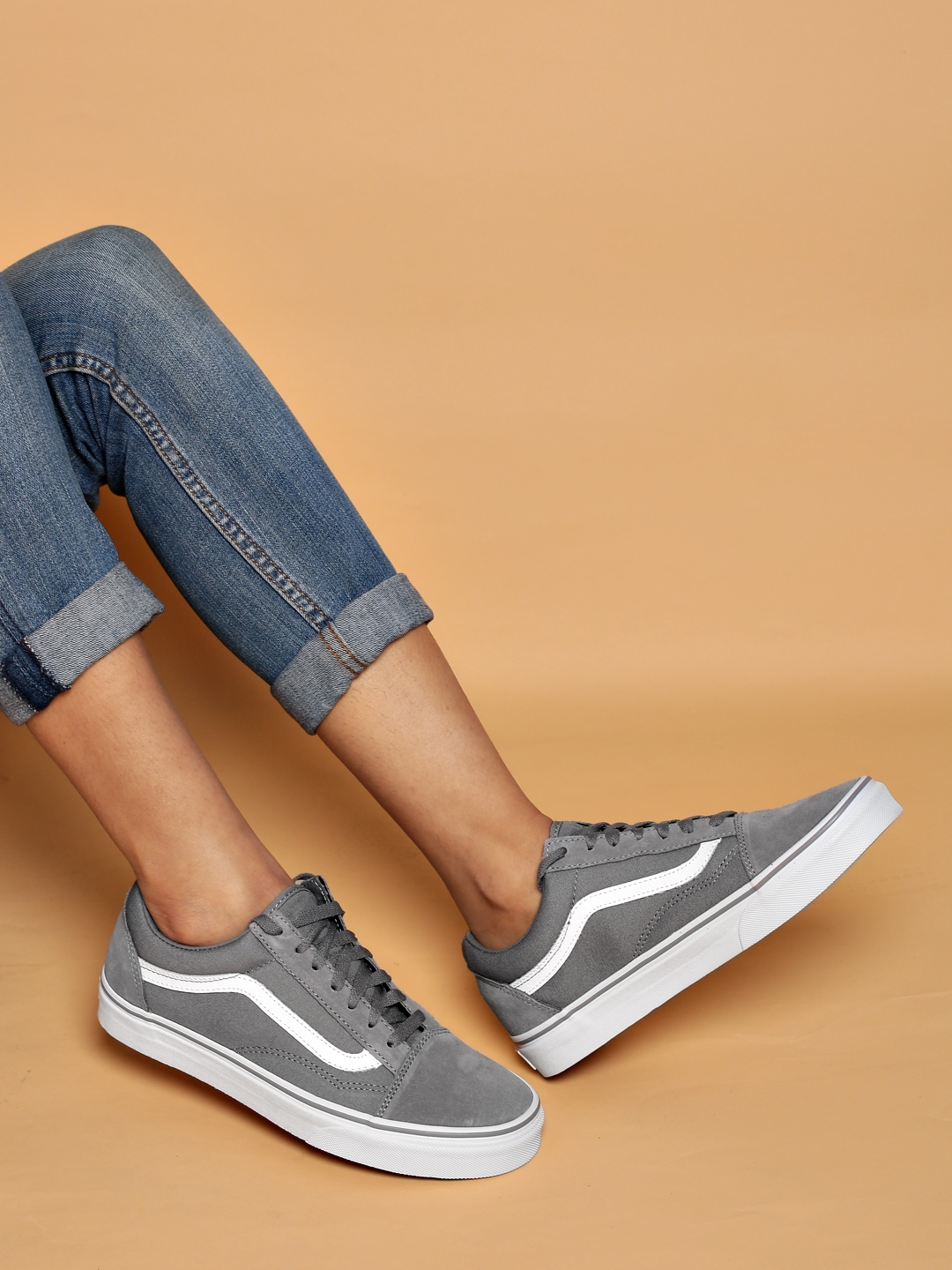 Kitchen Canisters Glass Vans Women Grey Solid Old Skool Regular Sneakers Price