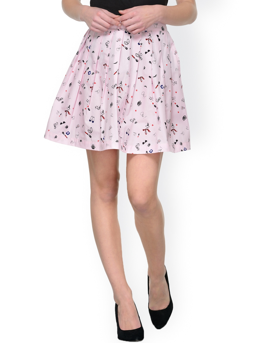 Street 9 Pink Pleated Skirt Price Myntra Skirts Deals At