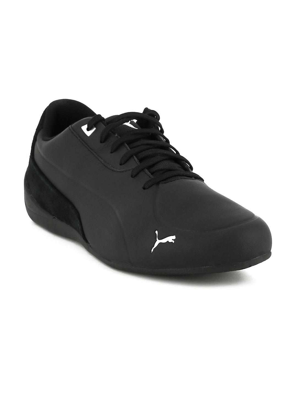 Puma Unisex Black Drift Cat 7 Cln Leather Sneakers Price