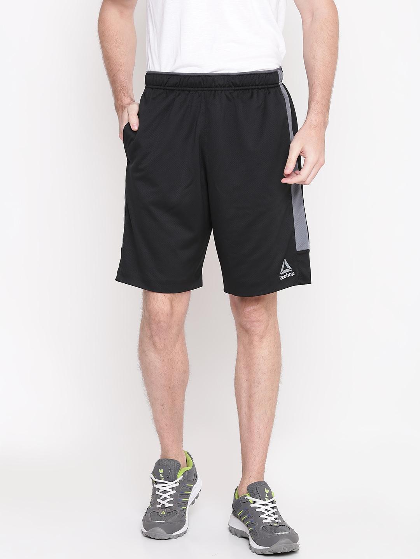 403d547aff18 Reebok Men Black WOR KN Sports Shorts Reebok Shorts