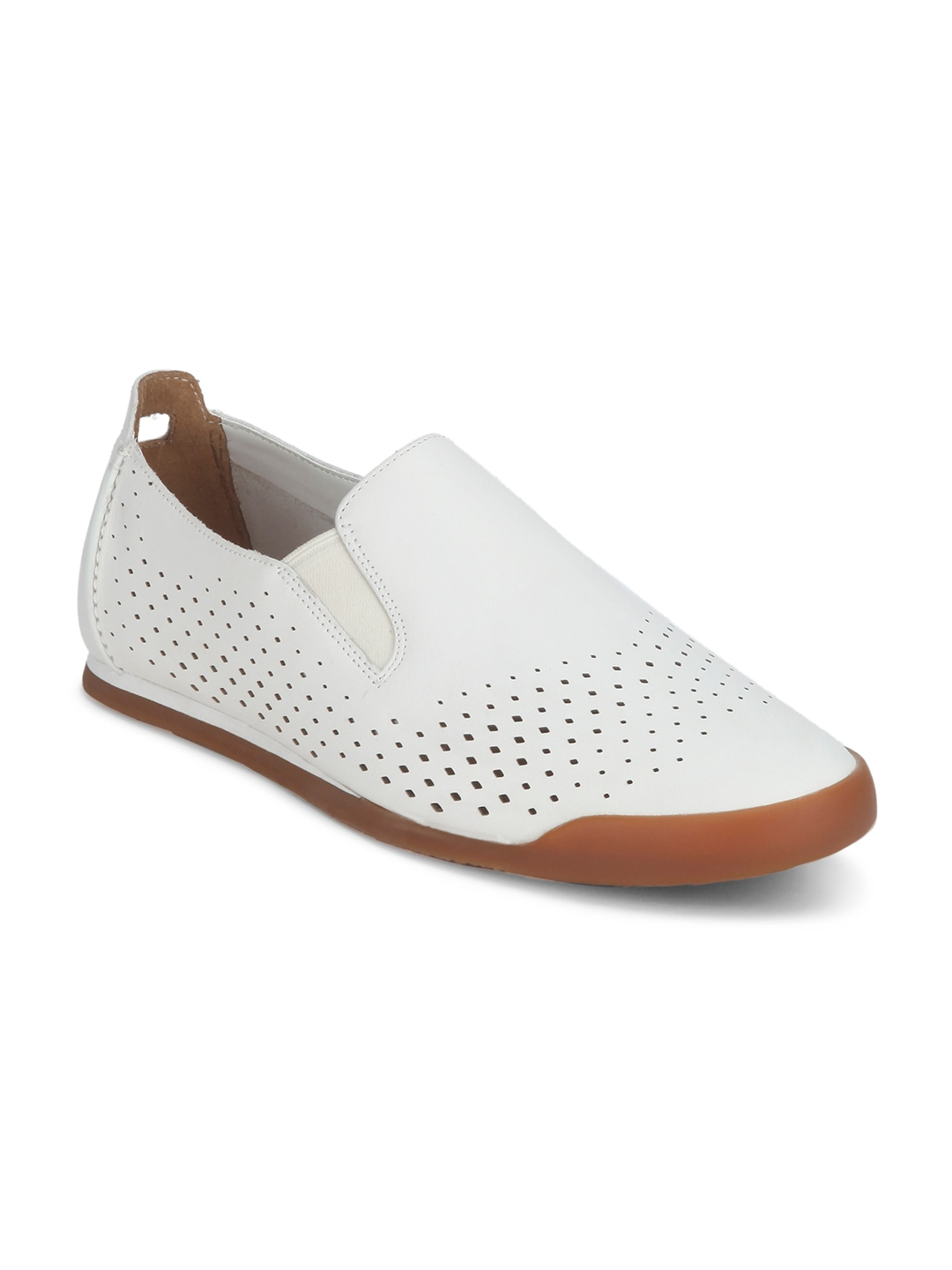 Glass Kitchen Canisters Clarks Men White Leather Perforated Sneakers Clarks Casual