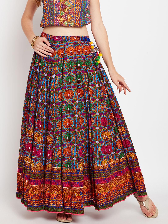 Kitchen Storage Canisters Biba Multicoloured Printed Maxi Flared Skirt Biba Skirts