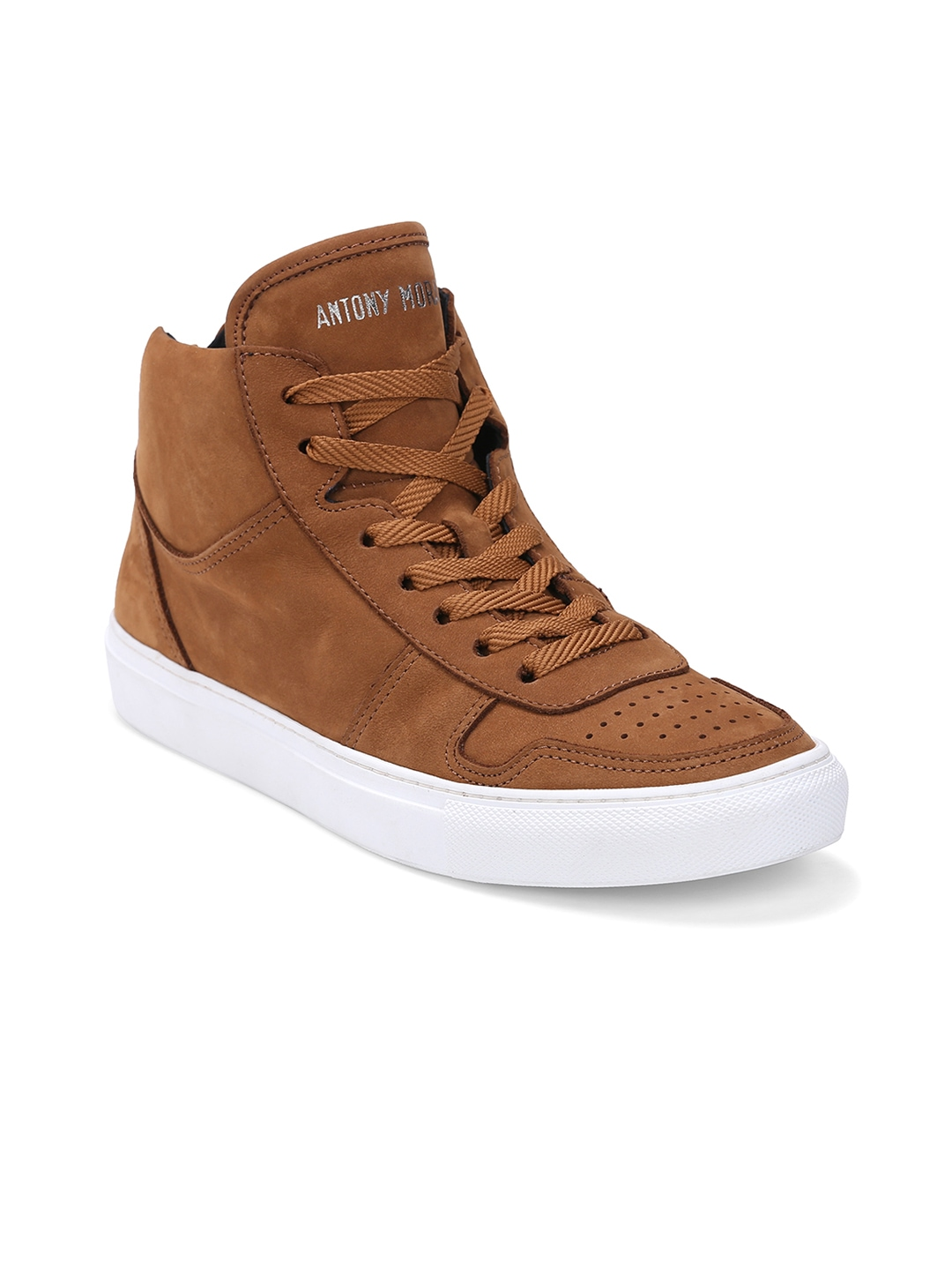 antony morato men tan leather sneakers antony morato casual shoes price myntra casual shoes. Black Bedroom Furniture Sets. Home Design Ideas