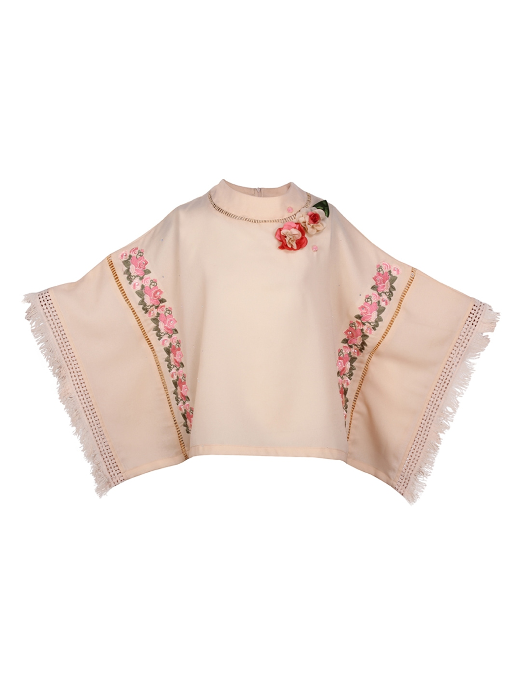 212e3b6e2a1 CUTECUMBER Girls Cream-Coloured Self Design Kaftan Top CUTECUMBER Tops.  Price Drop
