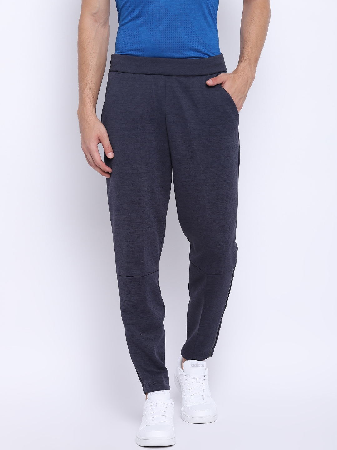 f39d84b1d Myntra deals · Adidas Men Navy Blue Z.N.E. Tapered Solid Track Pants Adidas  Track Pants