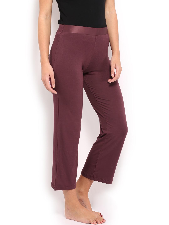 Elegant Burgundy Amp Gray Baroque Double Fun Pajama Pants  Women  Zulily