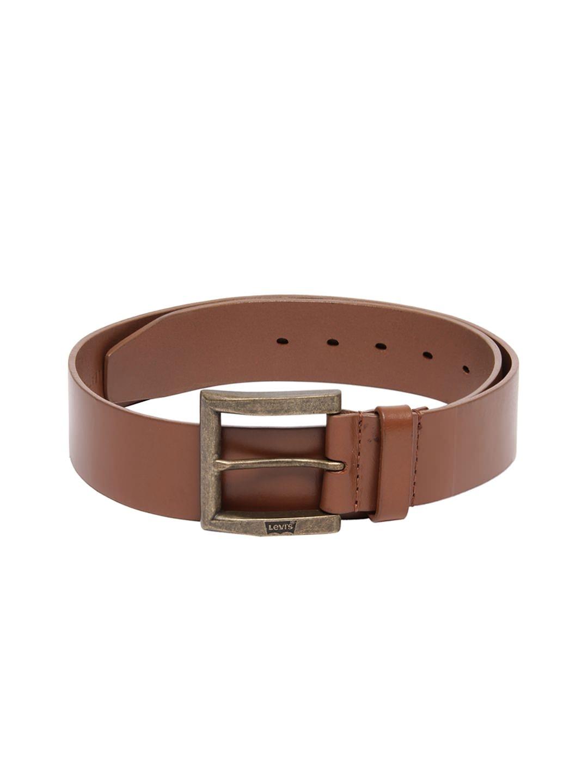 myntra levis brown leather belt 267375 buy myntra