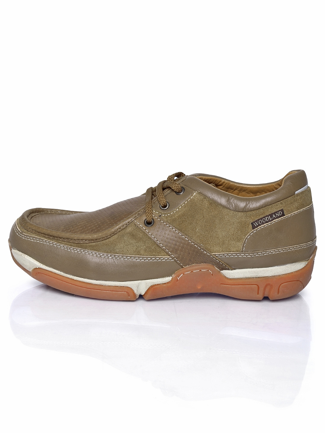 myntra woodland brown leather casual shoes 296848