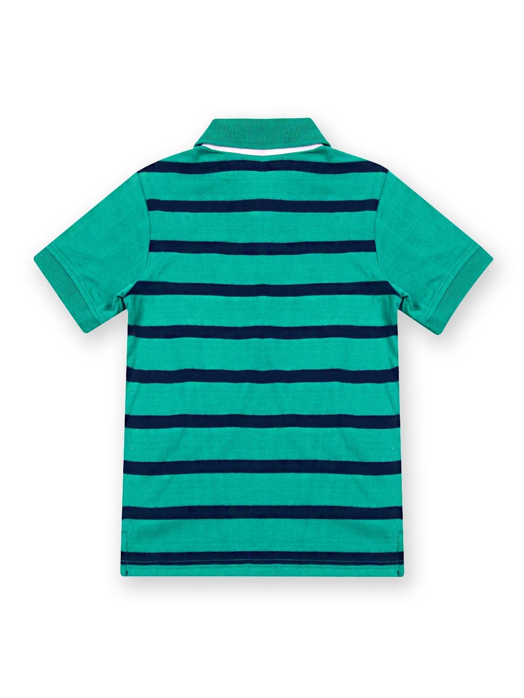 Myntra nautica boys green navy striped polo t shirt for Boys striped polo shirts