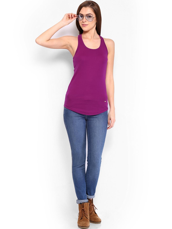 Myntra united colors of benetton women magenta top 371530 for Shop online benetton