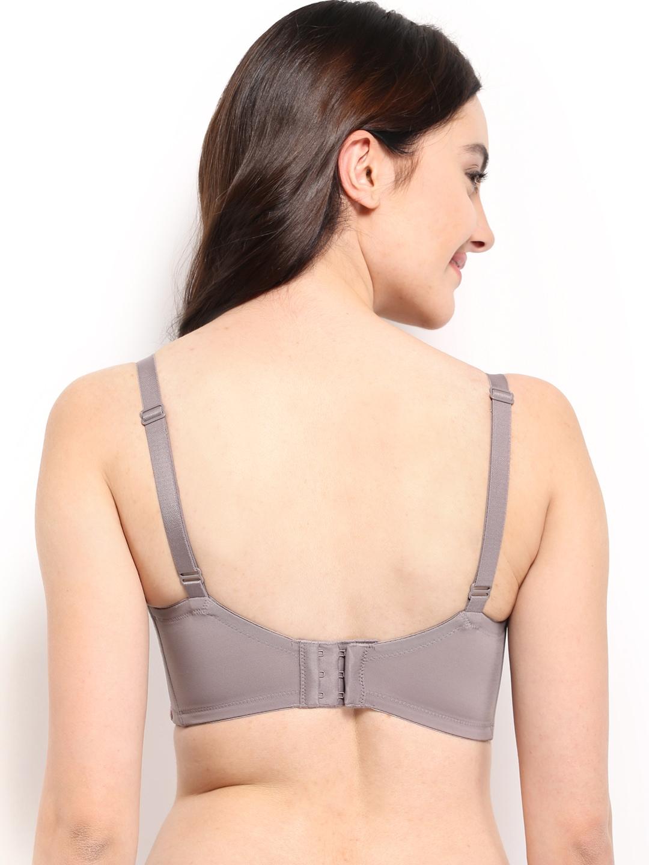 Myntra triumph grey pink plunge bra 220i100 408873 buy for Triumph t shirt bra