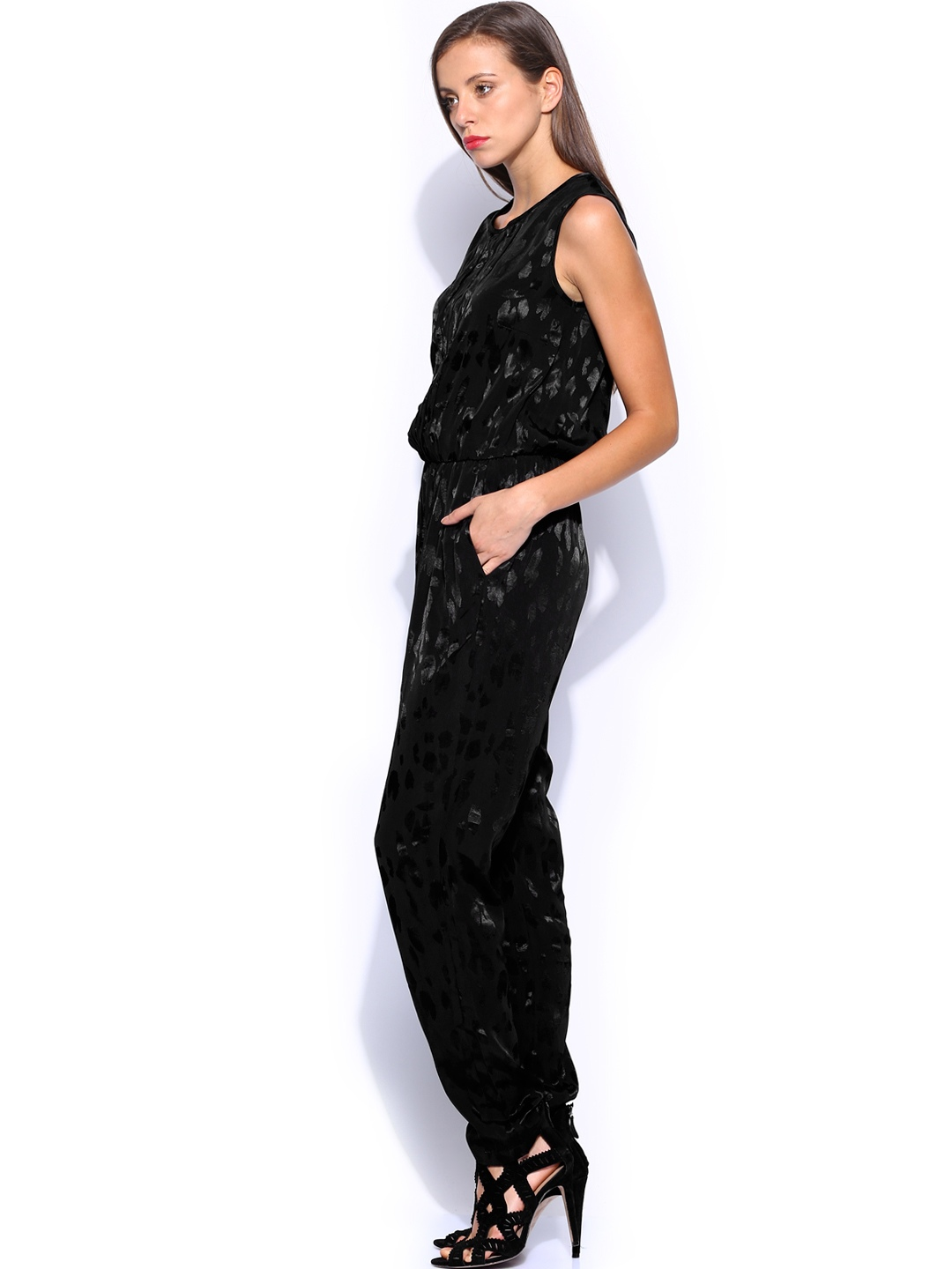 Brilliant Mango Halter Neck Jumpsuit In Black  Lyst