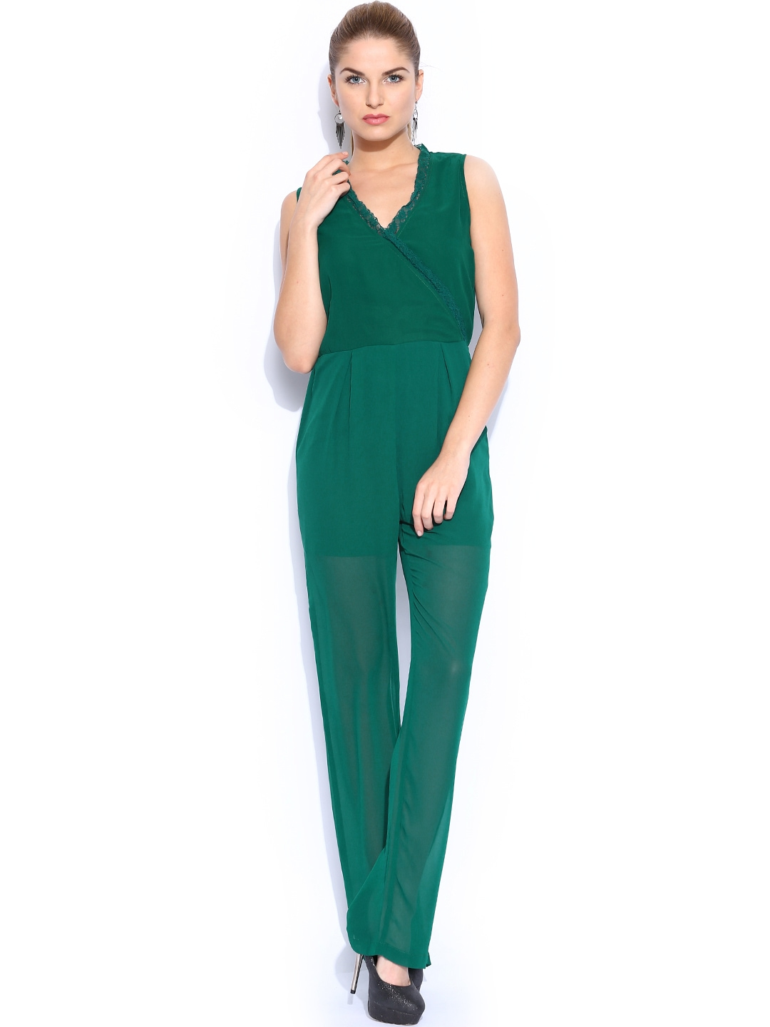Wonderful Convertible Neckline And Waist Straps Allow You To Create Multiple Flattering Looks In This Soft Jersey Romper Finished With Swingy Shorts That Flatter Your Legs Wear It As You Want And Feel Made To Order The Color On The Photo Is Greenery