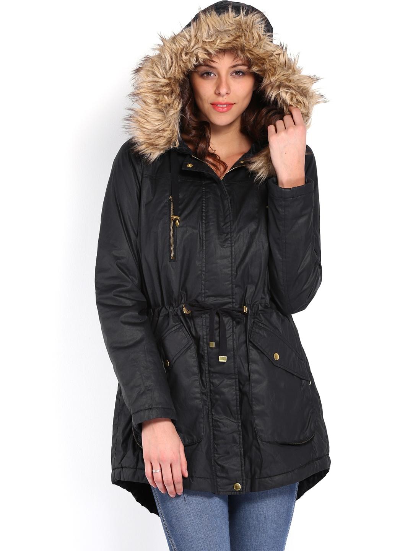 myntra vero moda women black hooded jacket 497227 buy myntra vero moda jackets at best price. Black Bedroom Furniture Sets. Home Design Ideas
