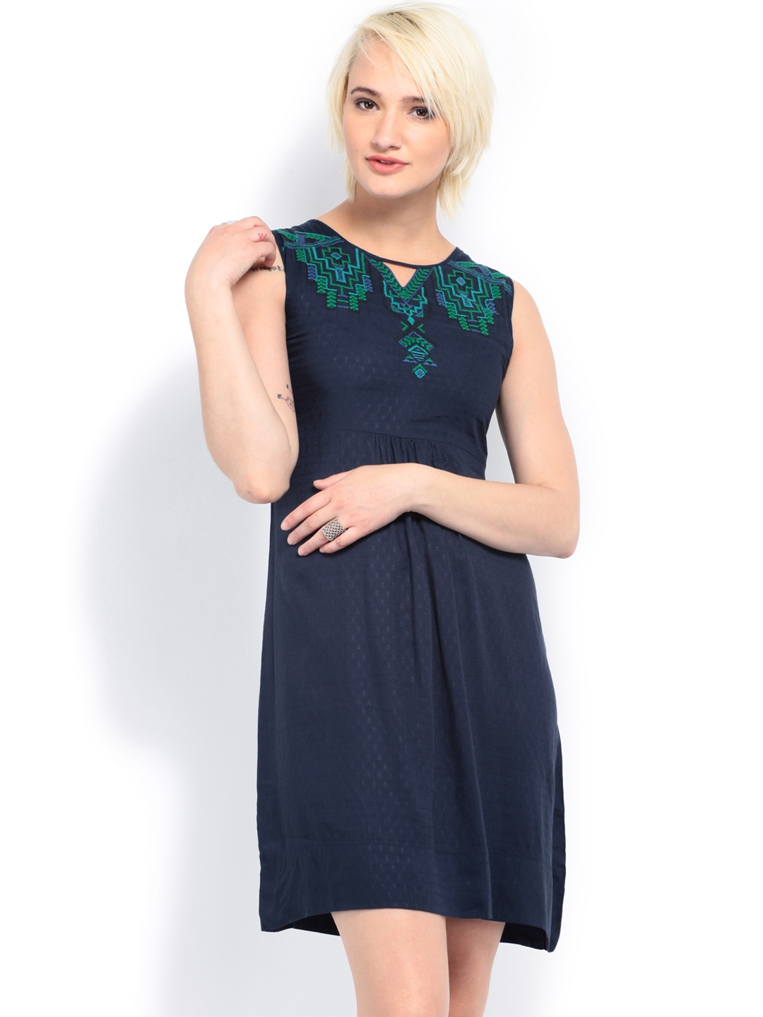 Myntra AND by Anita Dongre Navy Tailored Dress 514803 ...