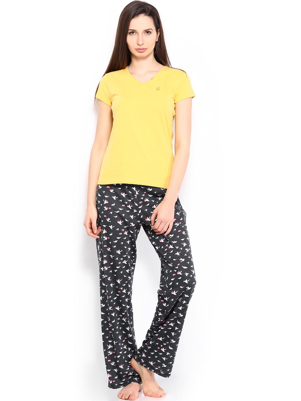Myntra undercolors of benetton women yellow t shirt 526385 for Shop online benetton