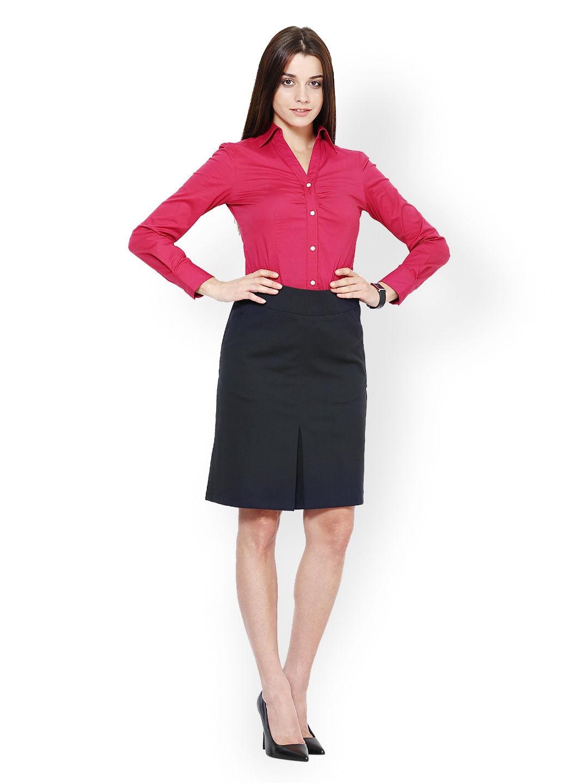 Myntra kaaryah women magenta formal shirt 531231 buy for Shirts online shopping lowest price