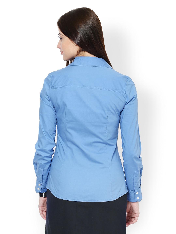 Myntra kaaryah women blue formal shirt 531234 buy myntra for Tuxedo shirt vs dress shirt