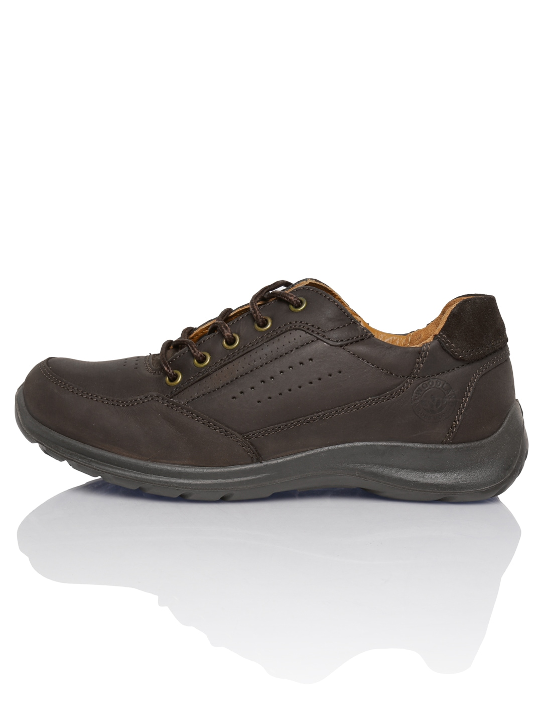 myntra woodland coffee brown leather casual shoes