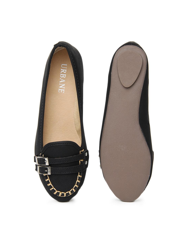 myntra urbane black flat shoes 582273 buy myntra