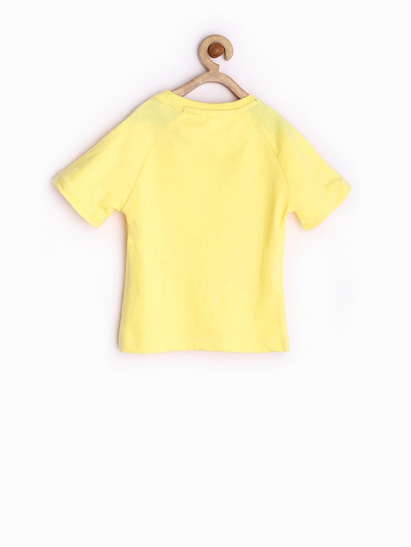Myntra yellow kite boys yellow printed t shirt 583422 for Boys printed t shirts