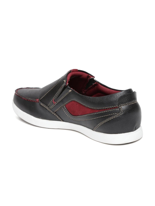 myntra numero uno black casual shoes 591154 buy