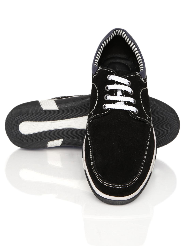 myntra numero uno black suede casual shoes 591160