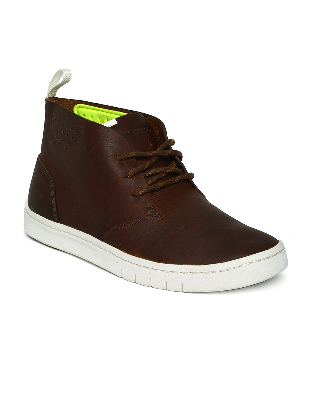 myntra clarks brown leather casual shoes 604654 buy