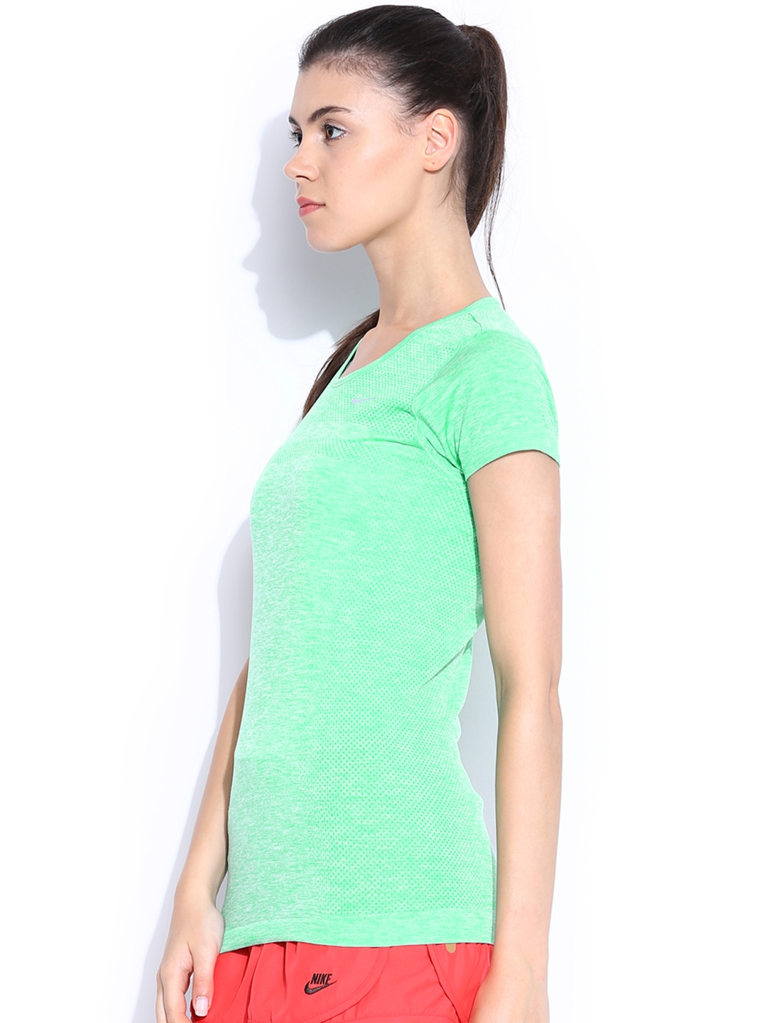 Myntra nike green dri fit running t shirt 605047 buy for Buy dri fit shirts
