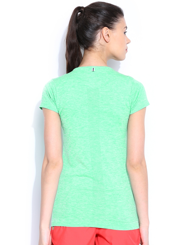 Myntra nike green dri fit running t shirt 605047 buy for Dri fit material shirts