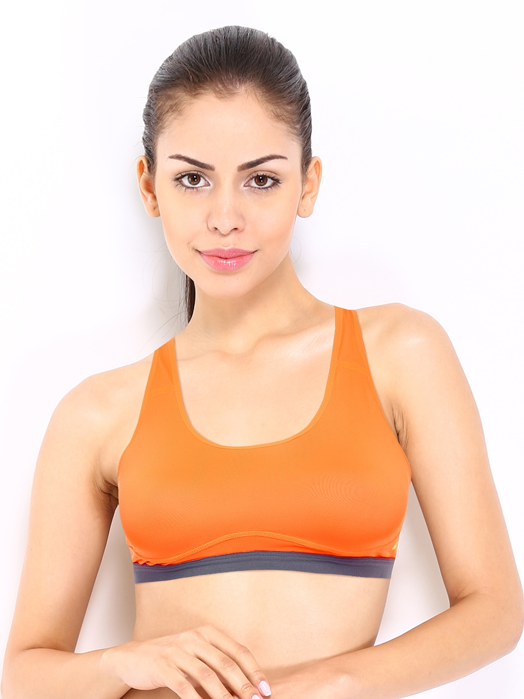 Women's Sports Bras Offer Comfortable Control in a Variety of Styles Wearing the correct women's sports bra for your activity makes all the difference in your workout. In addition to the picking the right style, you have a choice of an array of colors and popular brand names, such as Champion, Hanes, and Under Armour.