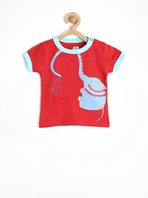 Myntra yk baby boys red printed t shirt 605348 buy for Boys printed t shirts