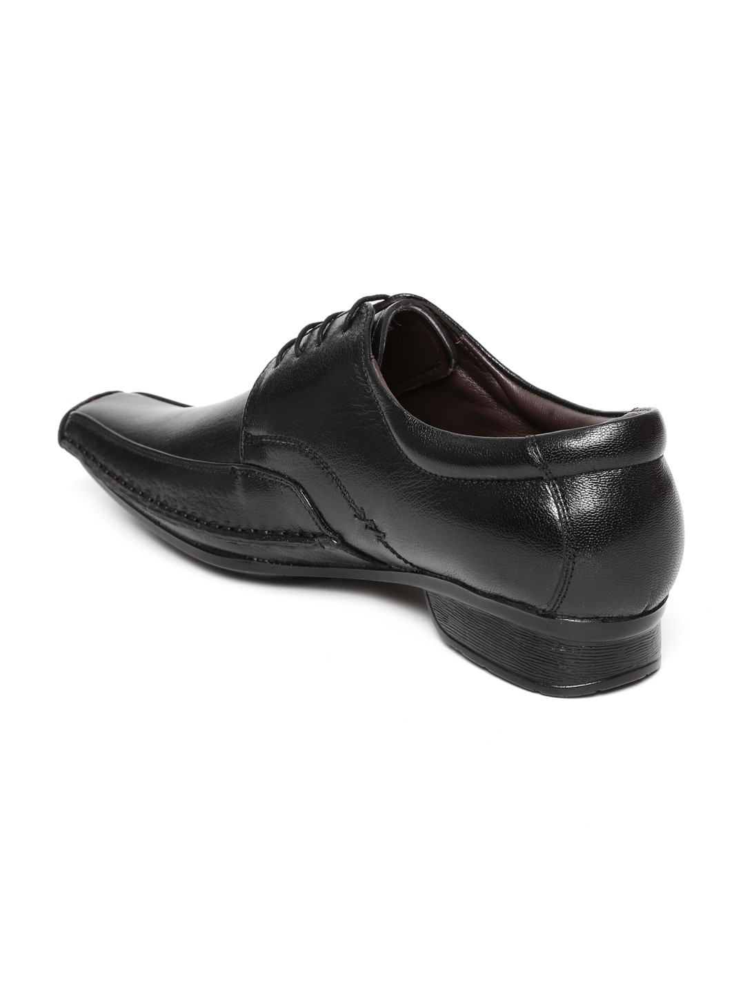 myntra clarus black leather formal shoes 606348 buy