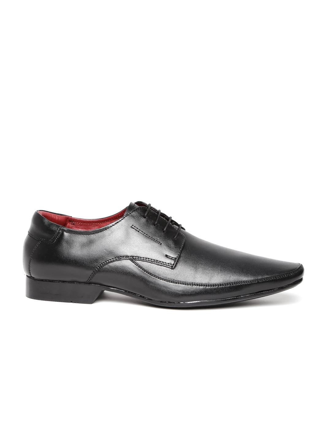 myntra clarus black leather formal shoes 606400 buy