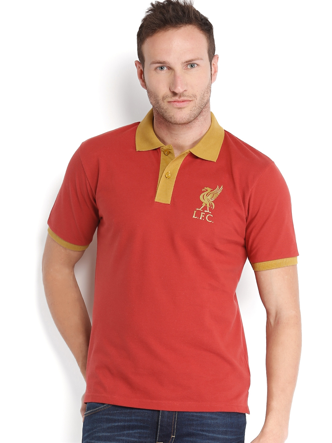 Shirt  Off Liverpool Football Club Uk Yellow Polo T Shirt
