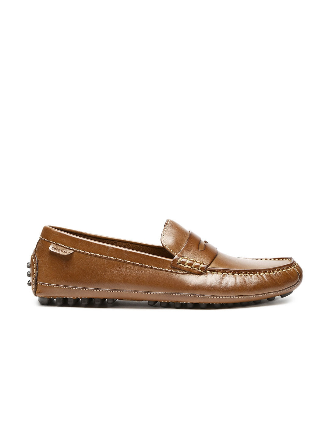 myntra cole haan men brown leather loafers 607231 buy myntra cole haan casual shoes at best. Black Bedroom Furniture Sets. Home Design Ideas
