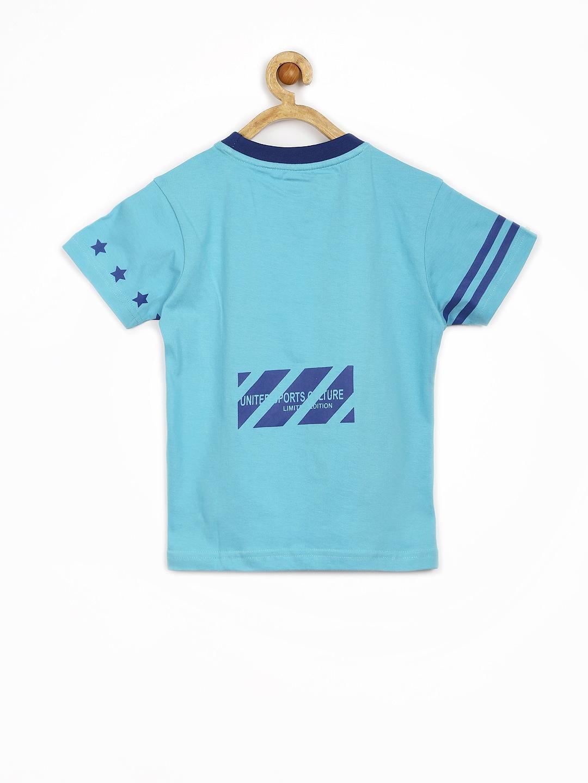 Myntra yellow kite boys blue printed t shirt 608657 buy for Boys printed t shirts