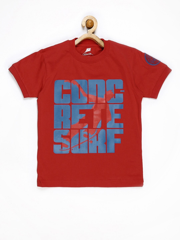 Myntra yellow kite boys red printed t shirt 608659 buy for Boys printed t shirts