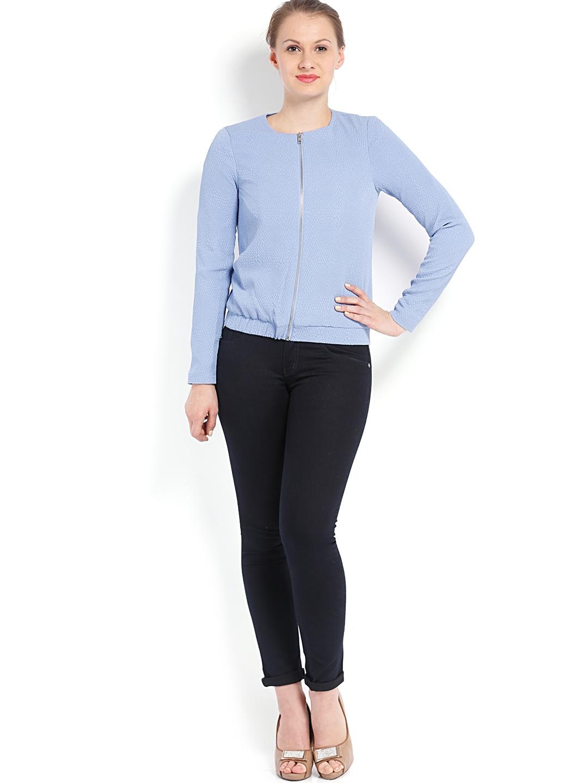 myntra vero moda women blue blazer 616872 buy myntra vero moda blazers at best price online. Black Bedroom Furniture Sets. Home Design Ideas