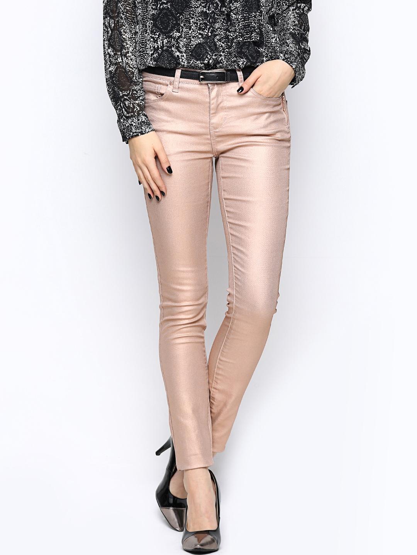 myntra vero moda women copper toned jeans 621515 buy myntra vero moda jeans at best price. Black Bedroom Furniture Sets. Home Design Ideas