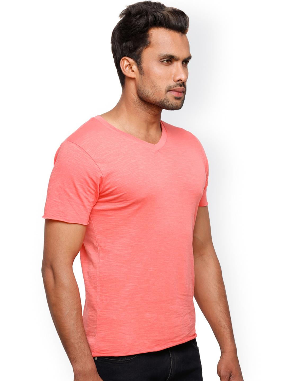 Myntra Globus Men Coral Pink T Shirt 624411 Buy Myntra