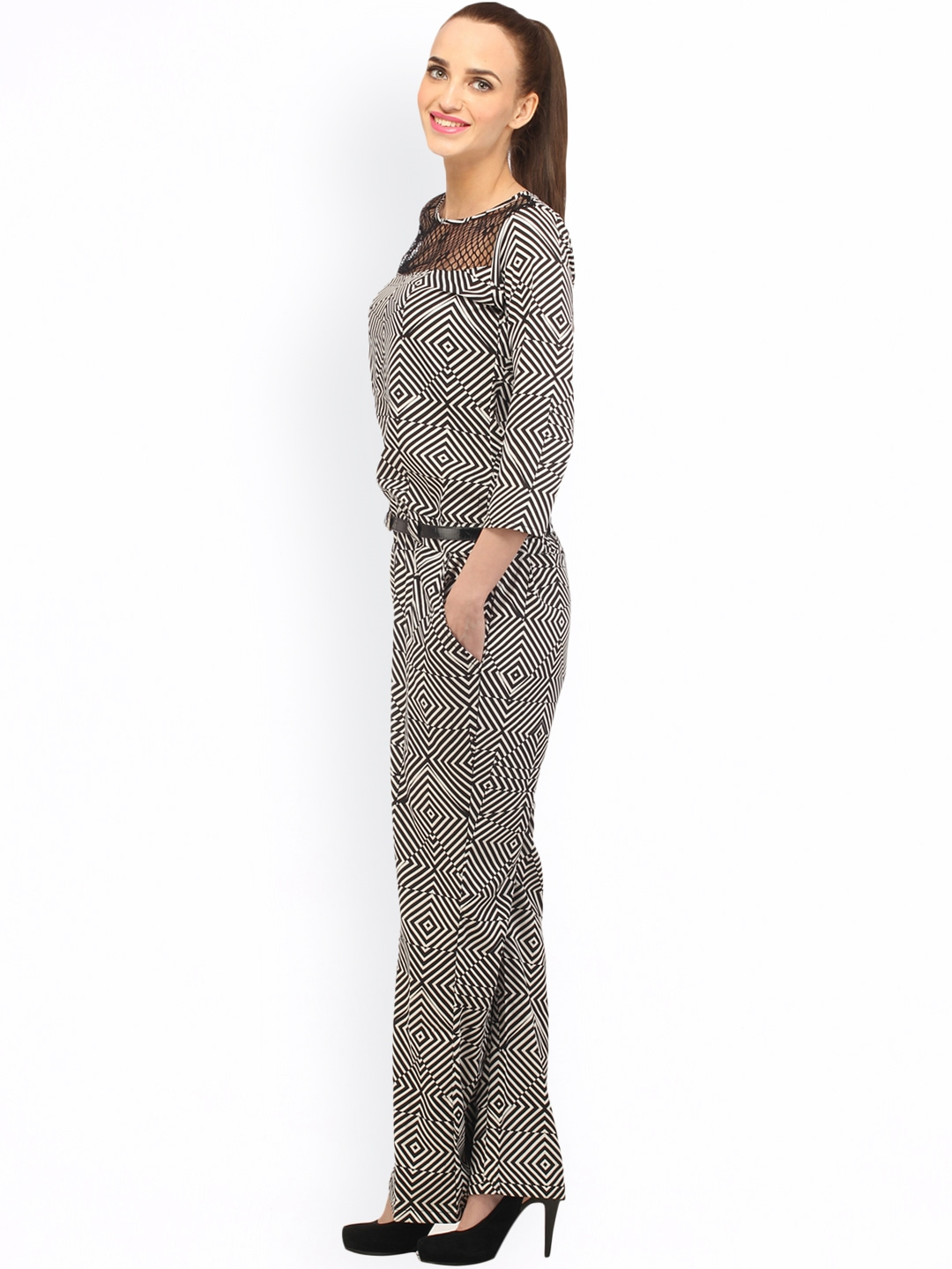 Lastest Buy Cottinfab Black Rayon Jumpsuits Online At Best Prices In India