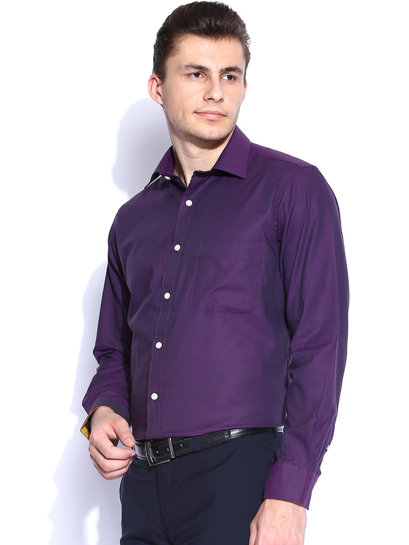 Myntra arrow purple formal shirt 627887 buy myntra arrow for Shirts online shopping lowest price