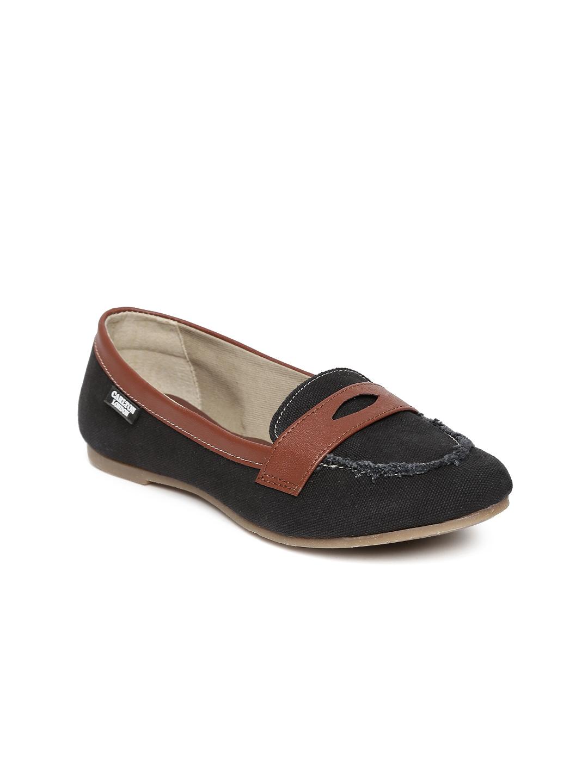 myntra carlton black flat shoes 636095 buy