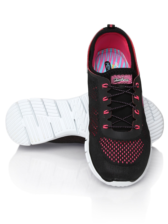 myntra skechers black glider sports shoes 637919