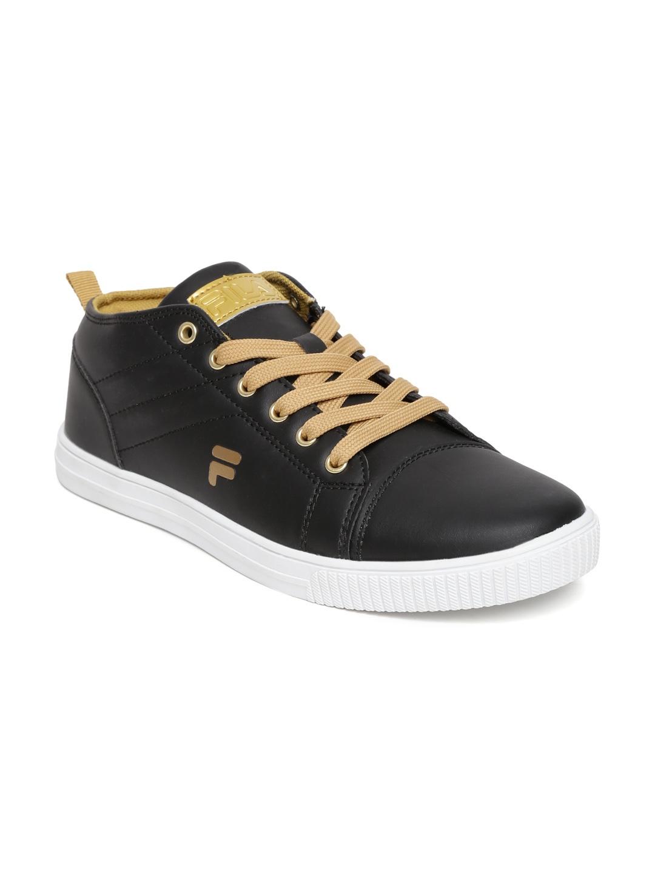 myntra fila black casual shoes 638115 buy myntra