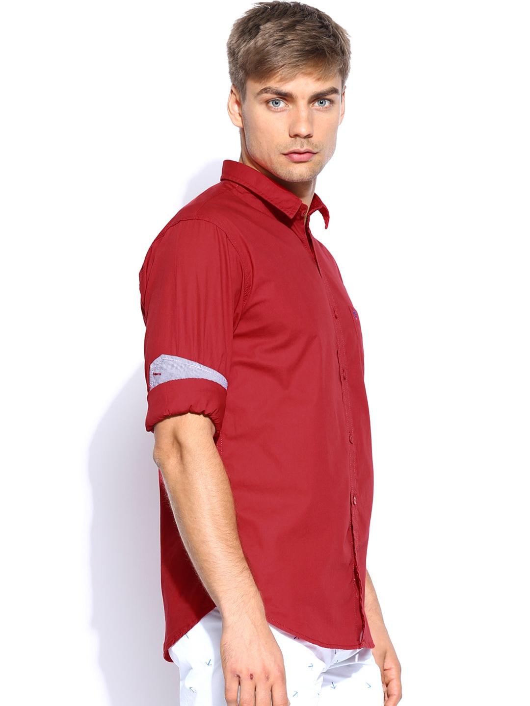 Myntra Izod Men Red Slim Fit Casual Shirt 643070 Buy