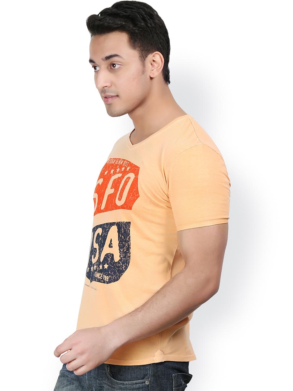 Myntra design classics men orange printed t shirt 646129 for Myntra t shirt design