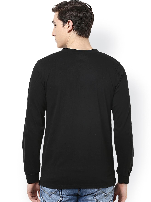 Myntra Unisopent Designs Men Black Henley T Shirt 648956